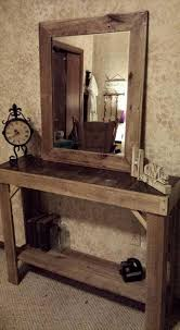 mirror and table for foyer. Exciting Entryway And Foyer Using Cool Tables Ideas: Wall Mirror Faux Paint Walls Table For