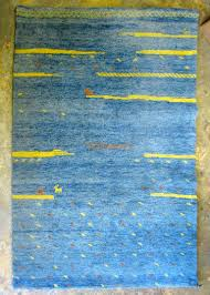 dazzling bright blue rug high pile gabbeh for at 1stdibs