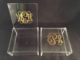 monogrammed acrylic box acrylic jewelry box trinket box bridal gift bridesmaid gift acrylic box personalized gift monogrammed box etsy and other