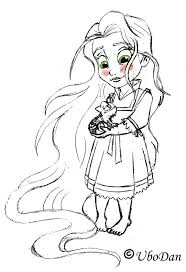 Small Picture Disney Baby Rapunzel Coloring Pages Coloring Pages Pinterest