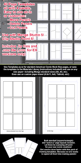 4 to a page template manga studio 5 page templates 4 panel layouts