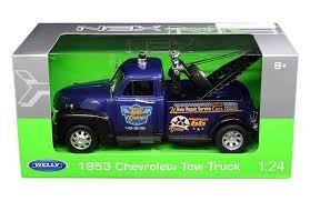 1953 Chevrolet Tow Truck Wrecker Blue 1/24 Scale Diecast Car ...