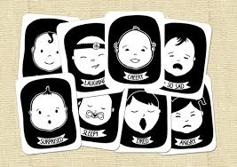 Baby Faces Black And White High Contrast Flash Cards For Etsy