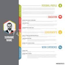 Adobe Resume Template Unique Minimalistic Cv Resume Template Buy This Stock Vector And Explore
