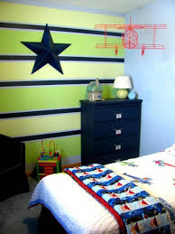 Interesting Green and Blue Boy's Bedroom