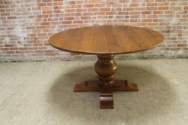 round reclaimed wood table w extension