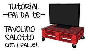 Tavolo Con I Pallet Come Costruire Un Tavolino Con I Pallet