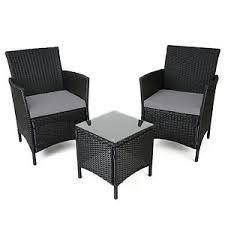 black garden furniture. image is loading christowblackrattantableampchairsgardenpatio black garden furniture