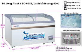 Tủ đông Alaska SC-601B mặt kính cong 600 lít - Giá rẻ nhất T11/2020