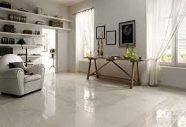 Collection in Living Room Floor Tiles Ideas with White Tile Floor