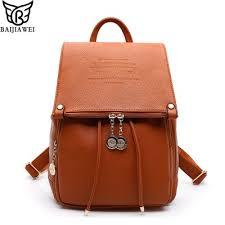 <b>2019 Fashion</b> Design PU Leather <b>Women Backpack</b> Casual School ...