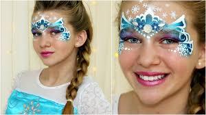 elsa crown frozen snow princess face painting design you