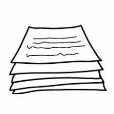 テスト用紙シルエット イラストの無料ダウンロードサイトシルエットac