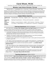 Sample Resume For High School Biology Teacher Refrence Tutor Resume ...