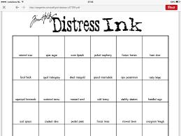 Color Chart Distress Ink Kleurenkaart Distress