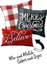 Outdoor Christmas Pillows Red Decorative Cushion Covers Throw Pillow Cover  Shabby ...
