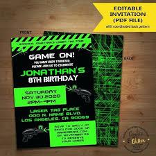 Free Laser Tag Invitation Template Laser Tag Party Invitation Template Free For Birthday Invitations
