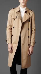 burberry london men long cotton gabardine trench coat