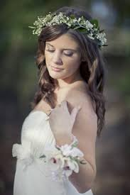 delicate white gypsophila and ivy hair circlet