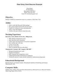 Spectacularr Letter Template Office Clerk With Additional Resume Pdf