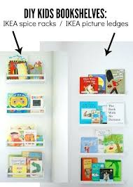 ikea kids book shelf bookshelf cool and clever bookcase hacks beautiful