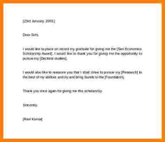 Thank You Letter For Scholarships Inspiration 44 Thank You Scholarship Letter Letter Format For