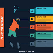 Sports Infographic Template Tennis Infographic Vector Vector Free Download