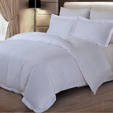 white bed sheet hotel bedding set