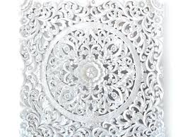 wall decor panel white wash wood carving art by carved decorative panels whitewashed a