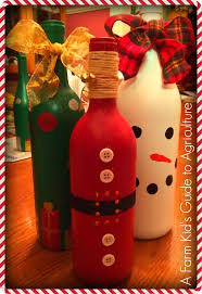 How To Decorate A Wine Bottle For Christmas Wine Bottle DIY Santas and Snowmen and Christmas Trees Oh My 14