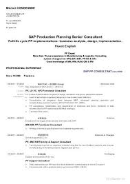 Sap Production Planning Senior Consultant Michel Condemine Cv