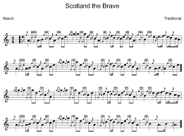Learn Scotland The Brave On The Bagpipes For Free Bagpipe