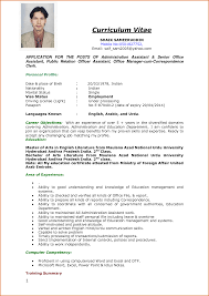 Cv Sample For Job Application Heegan Times