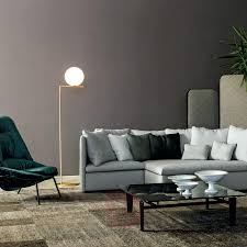 Ic F2 Brass Floor Lamp By Flos