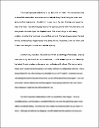 relationships essay the most important relationship in my life this preview has intentionally blurred sections sign up to view the full version