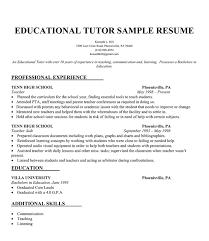 Tutor Resume Sample Experience Resumes