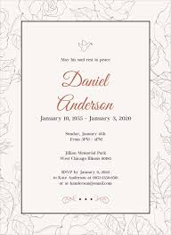 Memorial Service Invitation Template Inspiration 48 Funeral Invitation Templates PSD AI Free Premium Templates