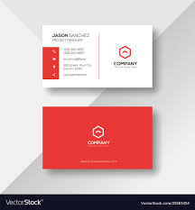 Red Design Company Simple And Clean Red And White Business Card