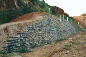 the experiment with tire walls conducted by geo rio has shown good results geo rio uncredited