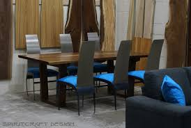 dining room showroom.  Room Dining Room Showroom Gorgeous Spiritcraft Design Furniture Walnut  Natural Edge Table And Chairs In O