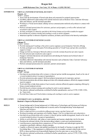 Virtual Systems Engineer Resume Samples Velvet Jobs