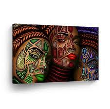 How to make modern art Abstract Art Smileartdesign Three African Women Stylish Make Up Modern Art Painting Canvas Print Decorive Wall Art African Amazoncom Amazoncom Smileartdesign Three African Women Stylish Make Up