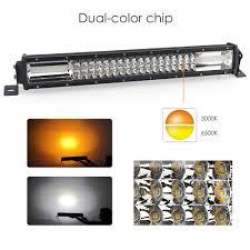 24 Volt Truck Led Lights China Dual Color Flashing 22 Inch 3 Rows 12v 24 Volt