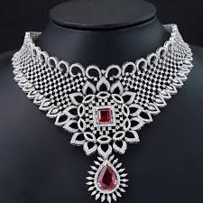 diamond jewellery is one of the prominent jewellery in indian weddings with the designs styles enhancing every