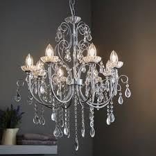 tabitha 8 light pendant ip44 bathroom safe chandelier chrome and crystal glass