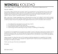 General Cover Letter Resume General Accountant Cover Letter Sample Cover Letter