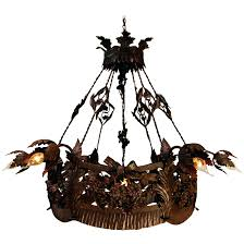 iron chandelier lighting century antique french wrought iron chandelier with leafs and flowers iron chandelier lamp