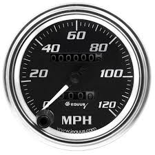 Amazon equus 7072 3 3 8 mechanical speedometer chrome with black dial automotive