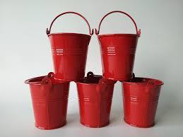 garden bucket. 20pcs/Lot D7.5XH7.5CM Bonsai Bacony Flowerpots Mini Planter Pure Garden Bucket Red Metal Seed Buckets And Pot-in Flower Pots \u0026 Planters From