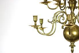 garden court antiques small scale 12 light dutch brass chandelier holland circa 1880
